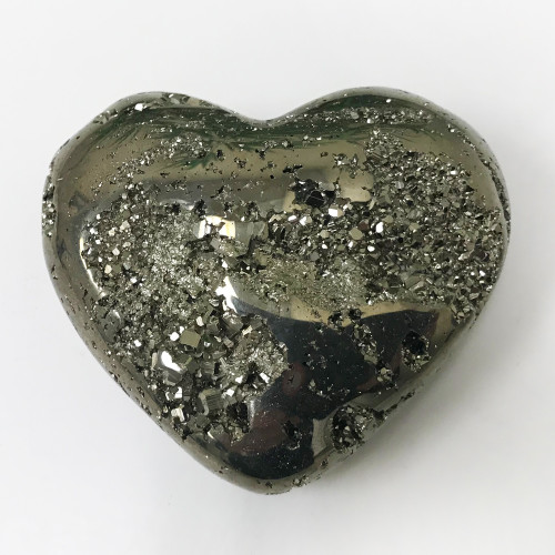 Natural Pyrite Heart Gemstone