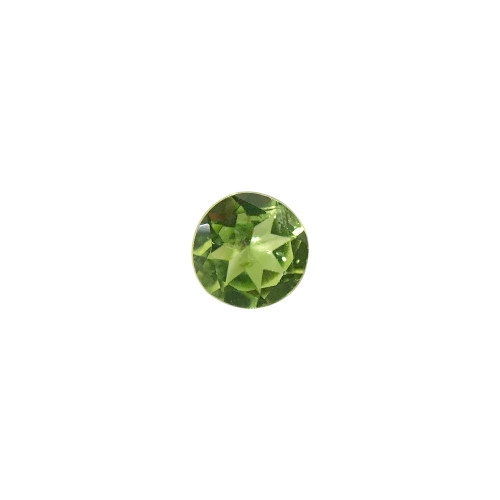 7mm Round Genuine Natural Peridot Faceted Gemstone 1.2 - 1.6 CTW Cut Stone