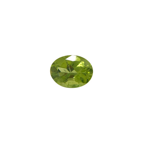8 X 6mm Oval Genuine Natural Peridot Faceted Gemstone 1 - 1.2 CTW Cut Stone