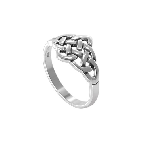 Sterling Silver Celtic Knot Design Front Ring