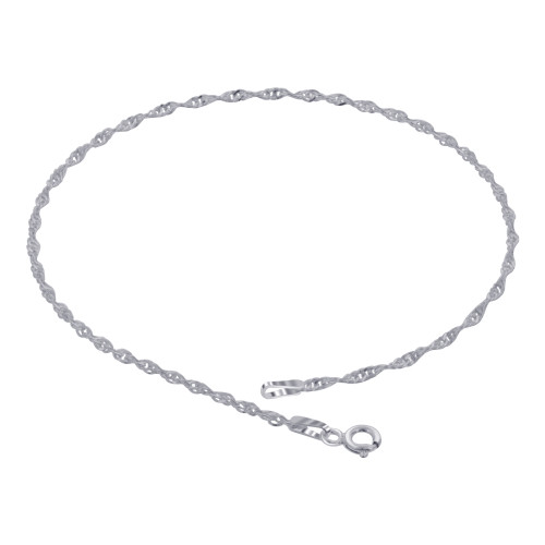 925 Silver 1.5mm Snake Chain Bracelet With Lobster Clasp