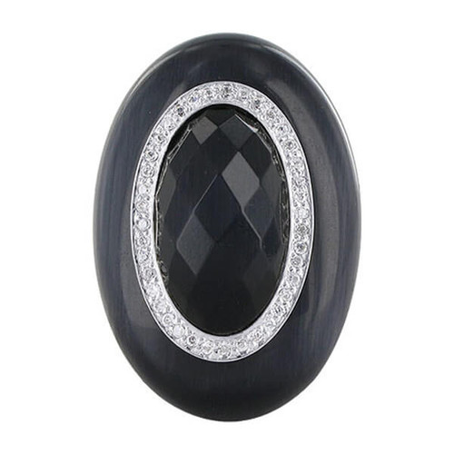 Black CZ Cocktail Ring