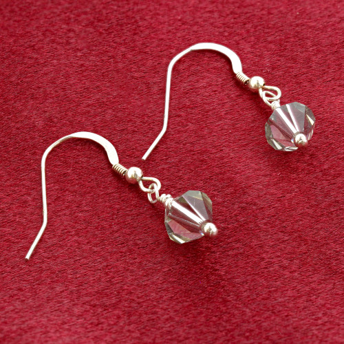Swarovski Elements Olive Crystal 925 Silver Drop Earrings