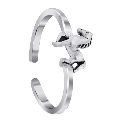 925 Sterling Silver Horse Toe Ring