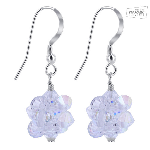 Clear AB Crystal Drop Earrings
