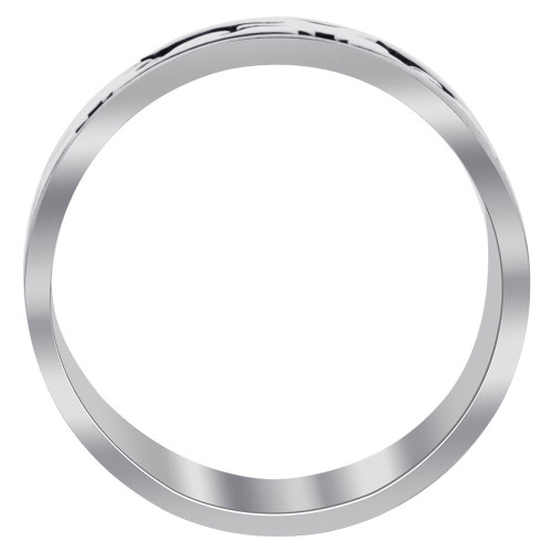 Running Wolf Sterling Silver Wedding Band Ring