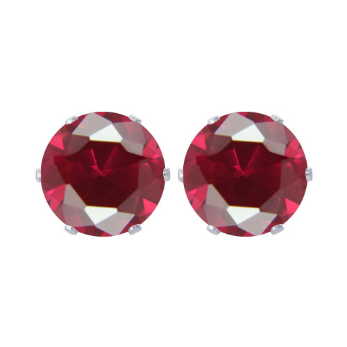 Ruby Color Stud Earrings