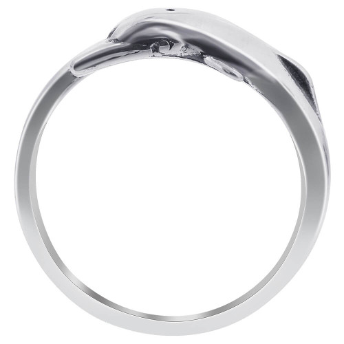925 Sterling Silver Dolphin Wrap Ring