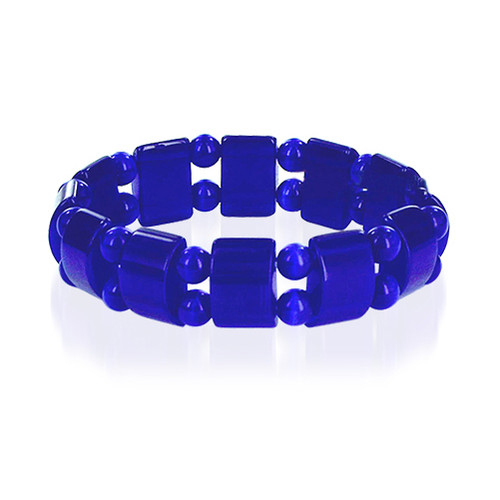 19mm Blue Cats Eye 6 to 7 inch Adjustable Stretchable Bracelet