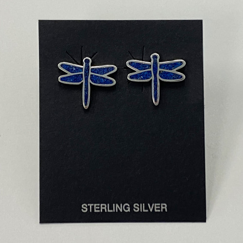 Sterling Silver Lapis Lazuli Gemstone Earrings