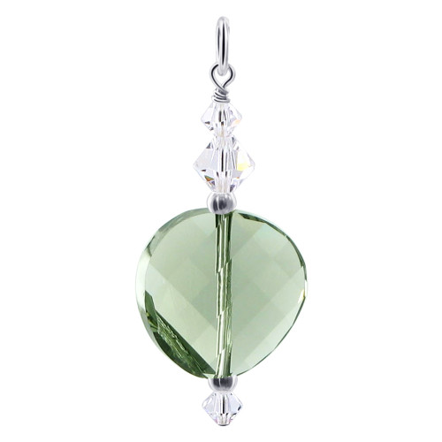 925 Silver Multifaceted Crystals Swarovski Charm Pendant