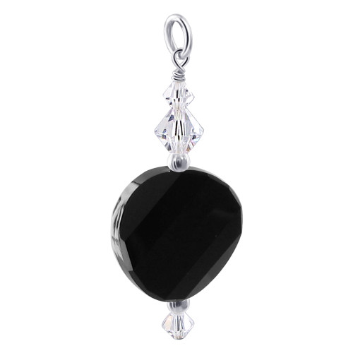925 Silver Multifaceted Swarovski Charm Crystals Pendant