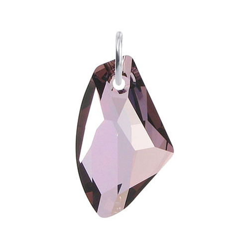 Multifaceted Pink Crystal 925 Silver Pendant