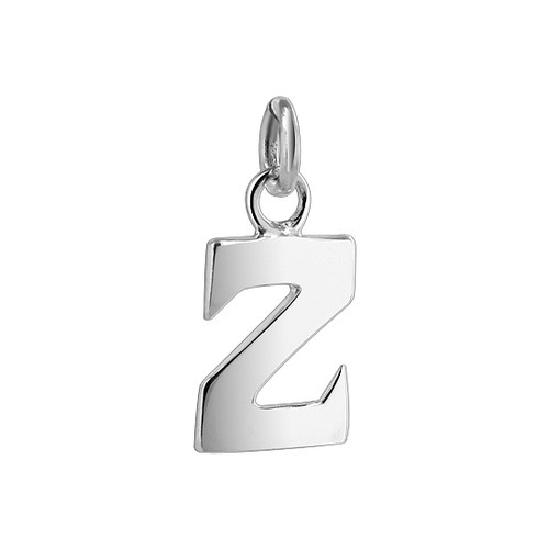 9mm x 7mm Z Initial Sterling Silver Pendant Charm