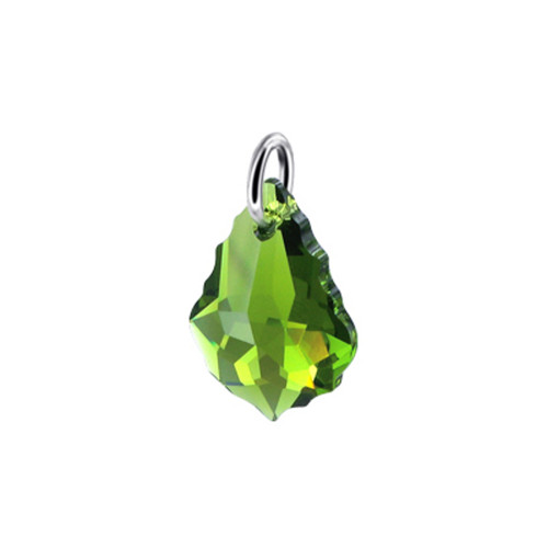 Olivine Green Crystal 925 Silver Charm Pendant