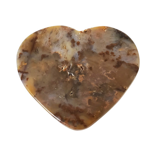 4.7 x 5.2 inch Heart Agate Collectible Crystal Gemstone 8.2 Oz