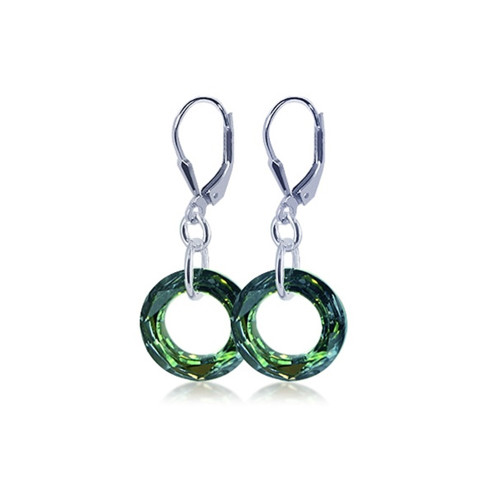 Made with Swarovski Elements Sahara Crystal 925 Sterling Silver Drop Earrings