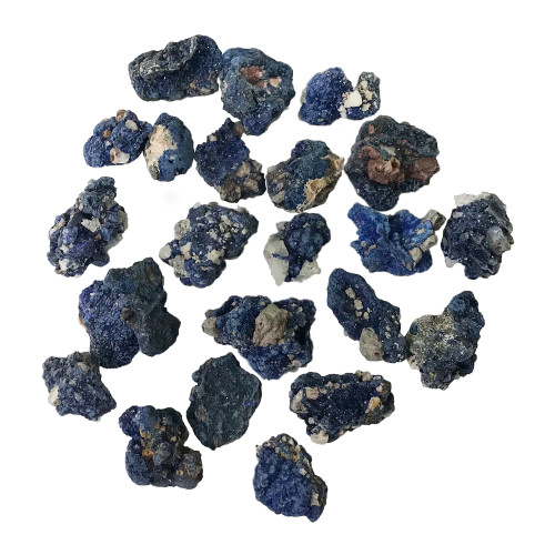 1 OZ Natural Blue Azurite Crystal Rough From Morocco