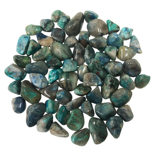 Chrysocolla Tumbled Stones Healing Crystal Home Decoration