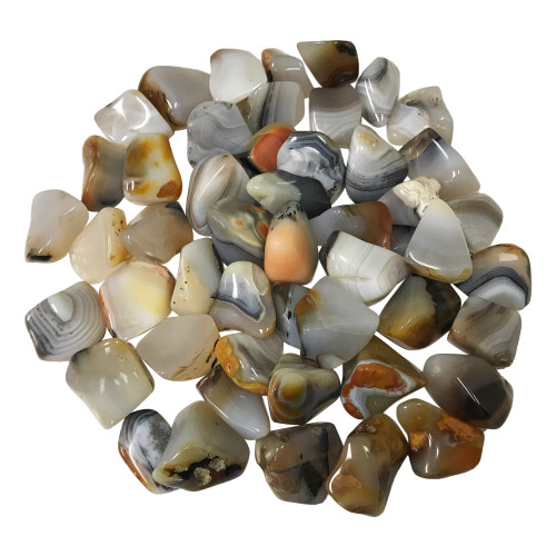 Dendritic Agate Tumbled Stones Healing Crystal Home Decoration