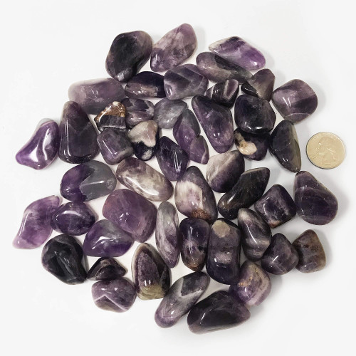 Banded Amethyst Tumbled Stones