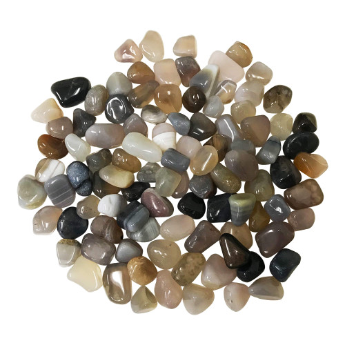 Chalcedony Tumbled Stones Healing Crystal Home Decoration