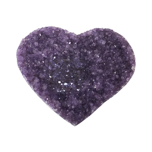 Natural Amethyst Heart Crystal Gemstone Collectible and Home Decor 12.8 Oz