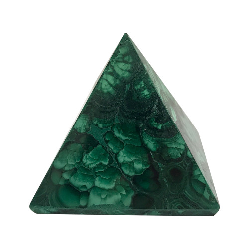 ONE Piece of Natural Malachite Pyramid Crystal Gemstone Collectible 5 Oz