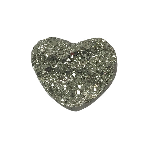 ONE Piece of Natural Pyrite Heart Crystal Gemstone Collectible