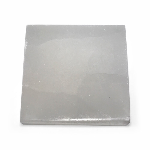 ONE Piece of Natural Selenite Square Crystal Gemstone 5.4 Oz