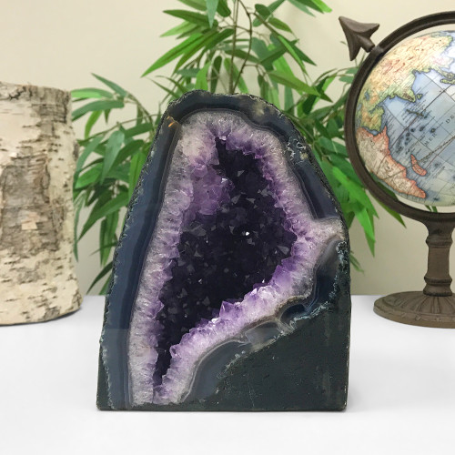 Self Standing Amethyst Crystal Church Cathedral Geode