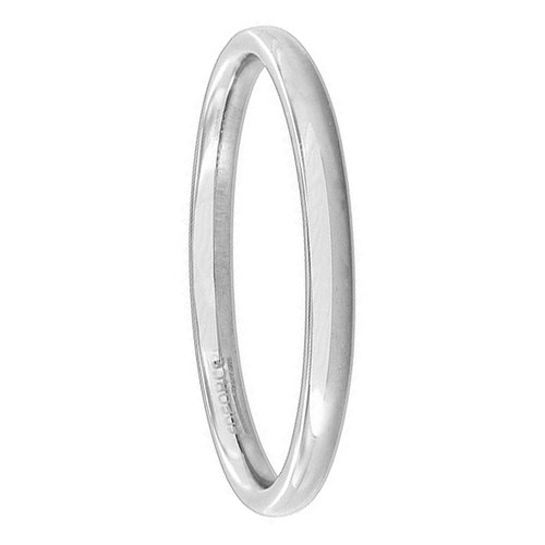Stainless Steel Plain Comfort Fit 2mm Wedding Band #ANRS011