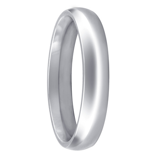 Stainless Steel Plain Comfort Fit 4mm Wedding Band #ANRS013