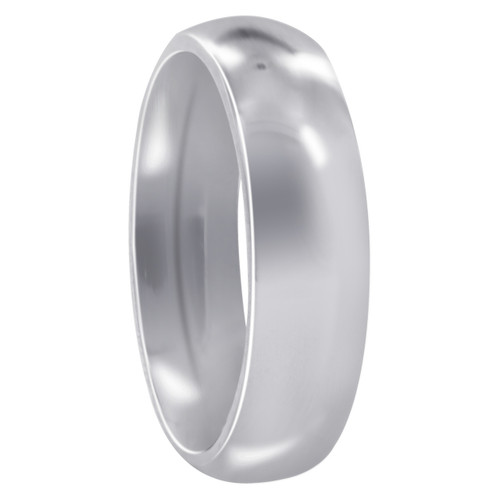 Stainless Steel Plain 6mm Wedding Band
