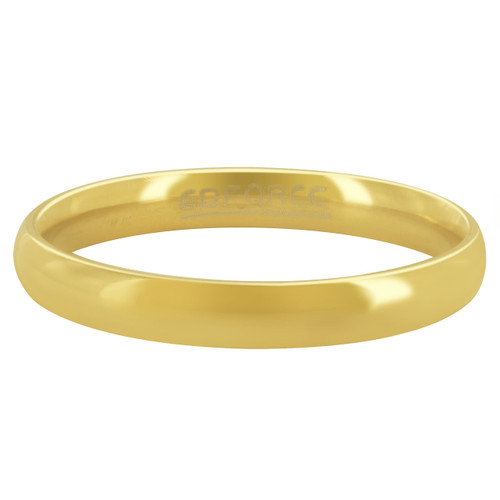 Stainless Steel Gold Plated Plain 3mm Wedding Band