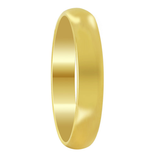 Stainless Steel Gold Plated 4mm Wedding Band