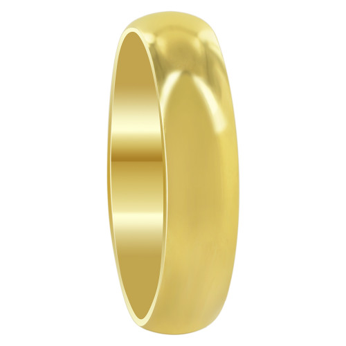 Stainless Steel Gold Plated 5mm Wedding Band