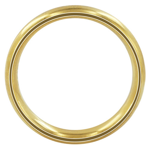 Stainless Steel Gold Plated Comfort Fit 6mm Wedding Band