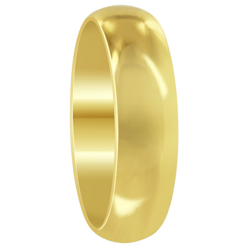 Stainless Steel Gold Plated 6mm Wedding Band