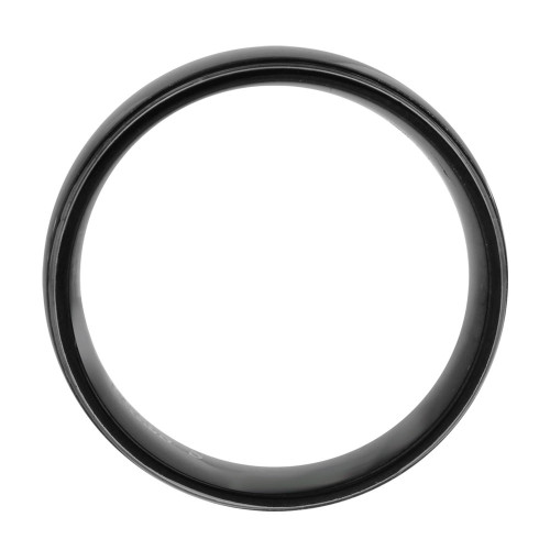 Stainless Steel Two Tone Black IP Plated Comfort fit 6mm Band