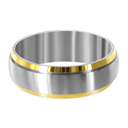 Stainless Steel Two Tone 8mm Spinning Band