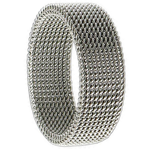 Stainless Steel Woven Mesh 7mm Band