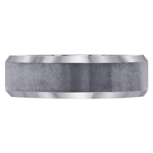 Men's Comfort-Fit Gray Tungsten 6mm Band #GR156