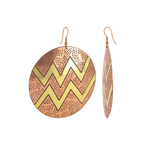 Zig - Zag Designer Fashion Drop Earrings with French Wire Findings