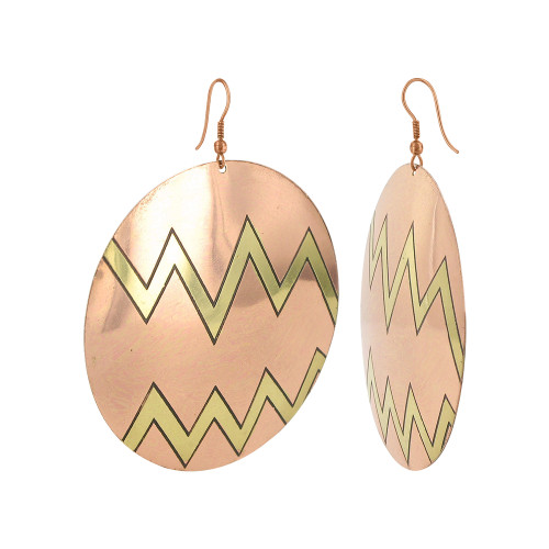 Zig - Zag Designer with French Wire Drop Earrings