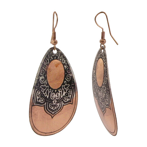 1 x 1.8 inch Design Fashion with French Wire Drop Earrings