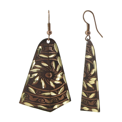 1 x 1.7 inch Designer Fashion with French Wire Drop Earrings