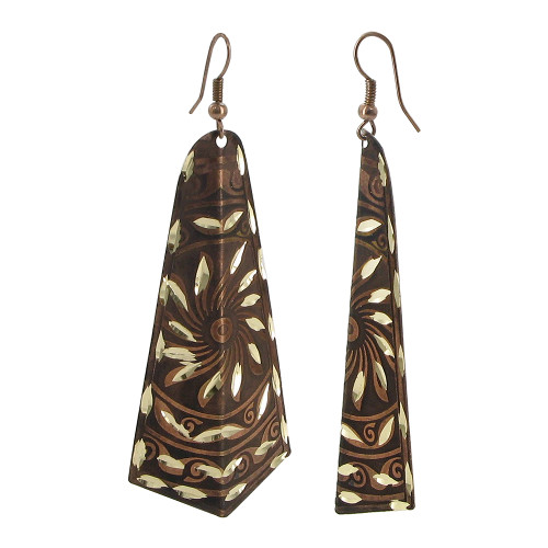 1 x 2.7 inch Designer Fashion with French Wire Dangle Earrings