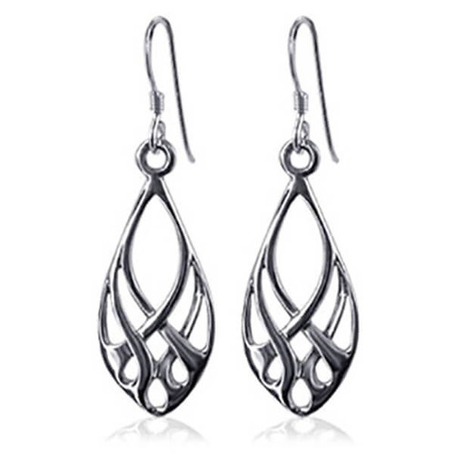 Endless Knot Design Fish Hook Dangle Earrings
