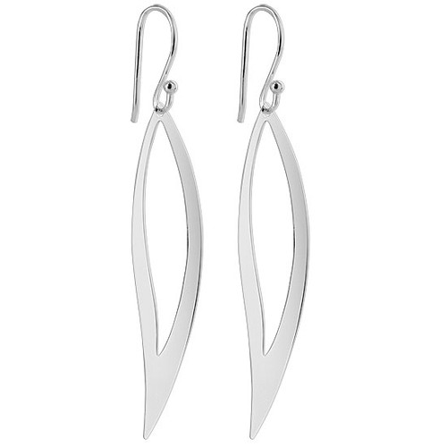 925 Sterling Silver Leaf French Dangle Earrings